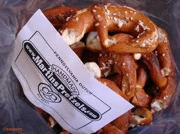 Delicious, hand made pretzels...